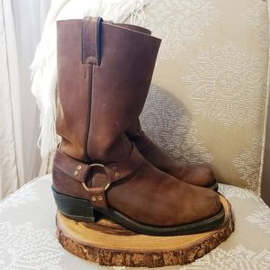 BOULET Motorcycle Leather Harness Boots